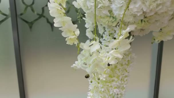 Close Up Of White Orchids In Wedding Decoration Wedding Arch With