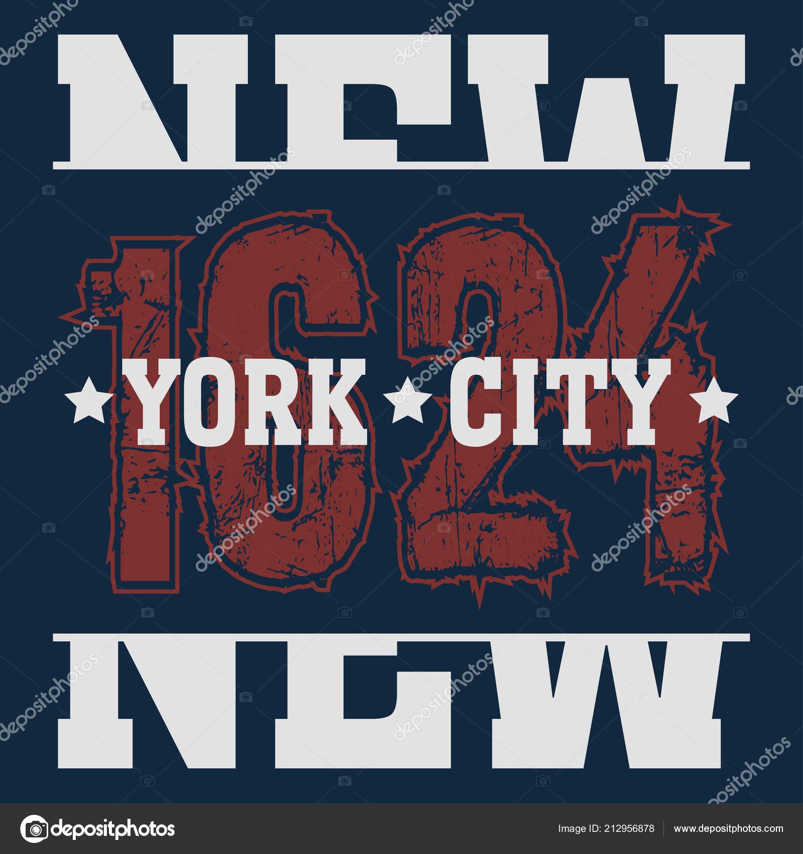 8a5930d4 New York Brooklyn Sport wear typography emblem, t-shirt print, athletic  apparel design vector illustration team — Vector by ...