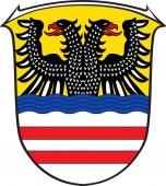 Wappen des Wetteraukreises in Hessen.