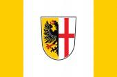Fotografie Fahne von Memmingen in Schwaben in Bayern, Deutschland