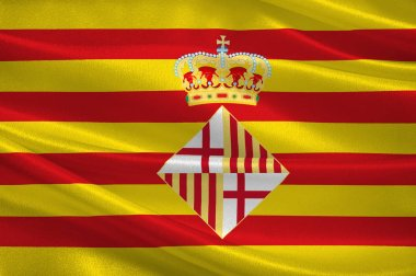Flag of Barcelona is a province of Spain