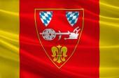 Flagge von Straubing in Niederbayern, Deutschland