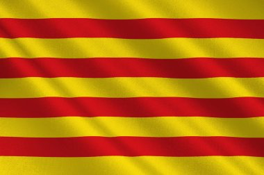 Flag of Catalonia of Spain.