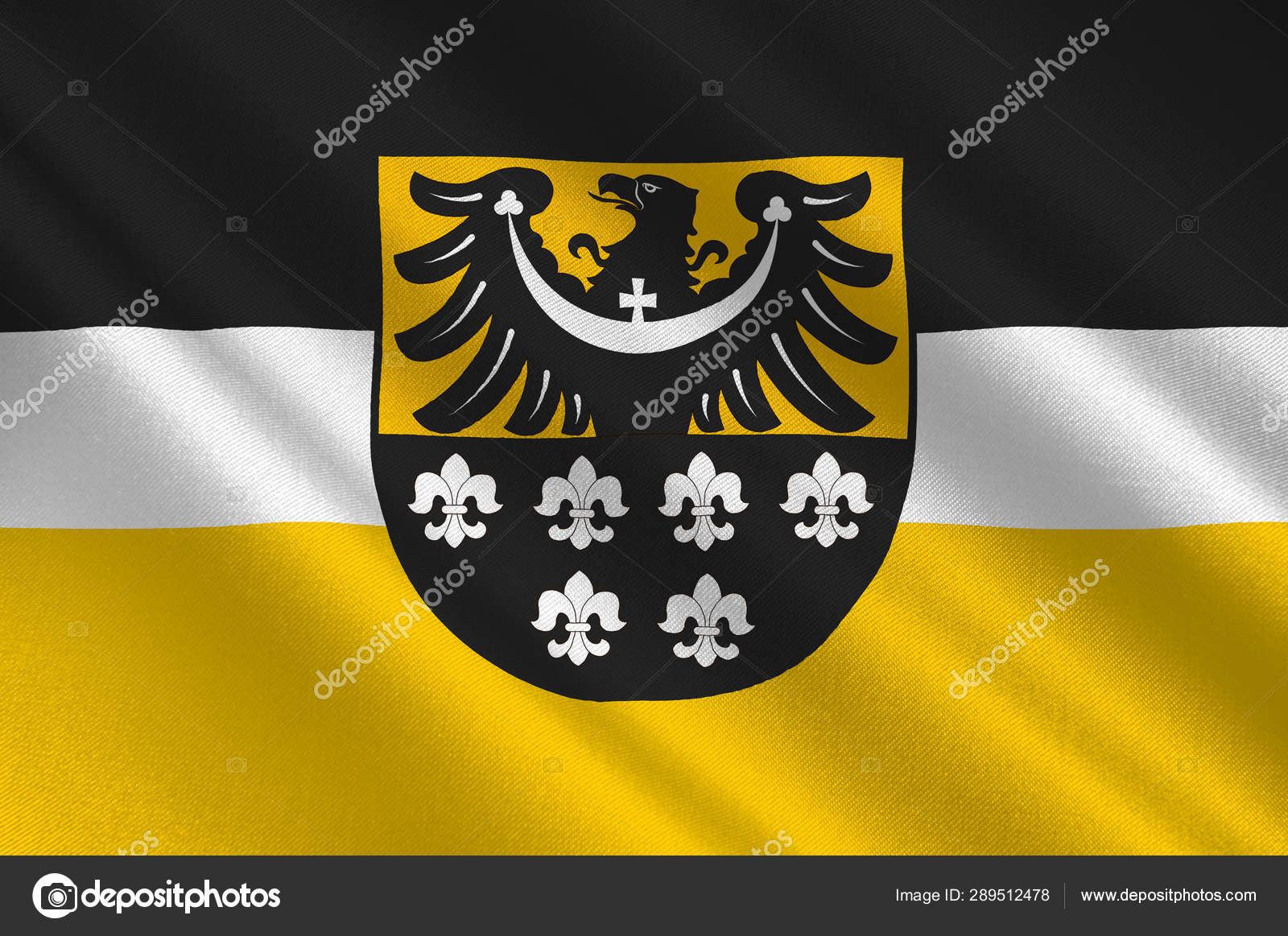 Voivodato Della Slesia Polonia flag of trzebnica county in lower silesian voivodeship of