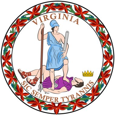 Coat of arms of Virginia State of USA