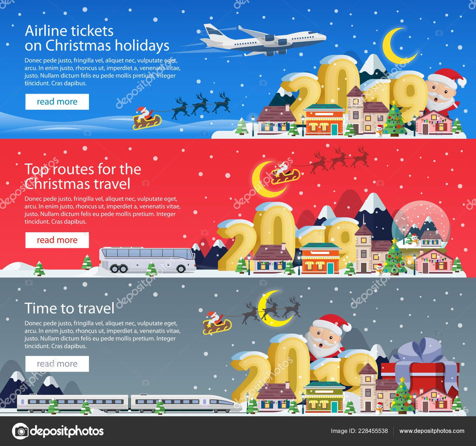 Frohe Weihnachten Flugzeug.Frohe Weihnachten 2019 Banner Fur Werbung Festlegen Der