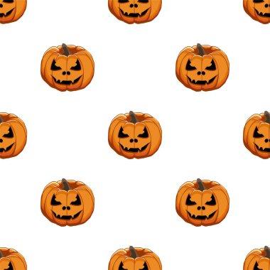 Illustration on theme big colored pattern Halloween