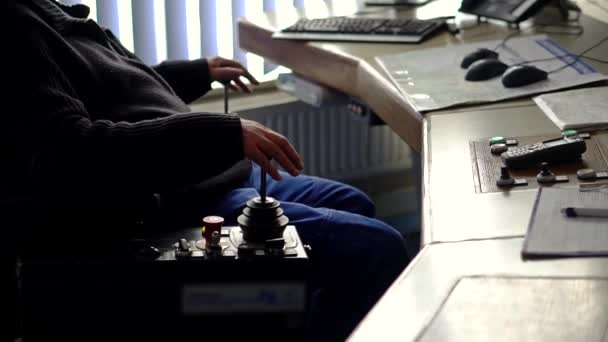 Industrial worker in control room