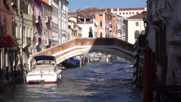 Öregember sétál át a hídon. Velence, Magyarország