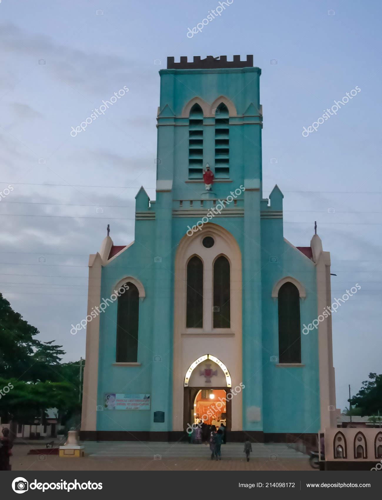 Exterior View Basilica Immaculate Conception Ouidah Benin — Stock
