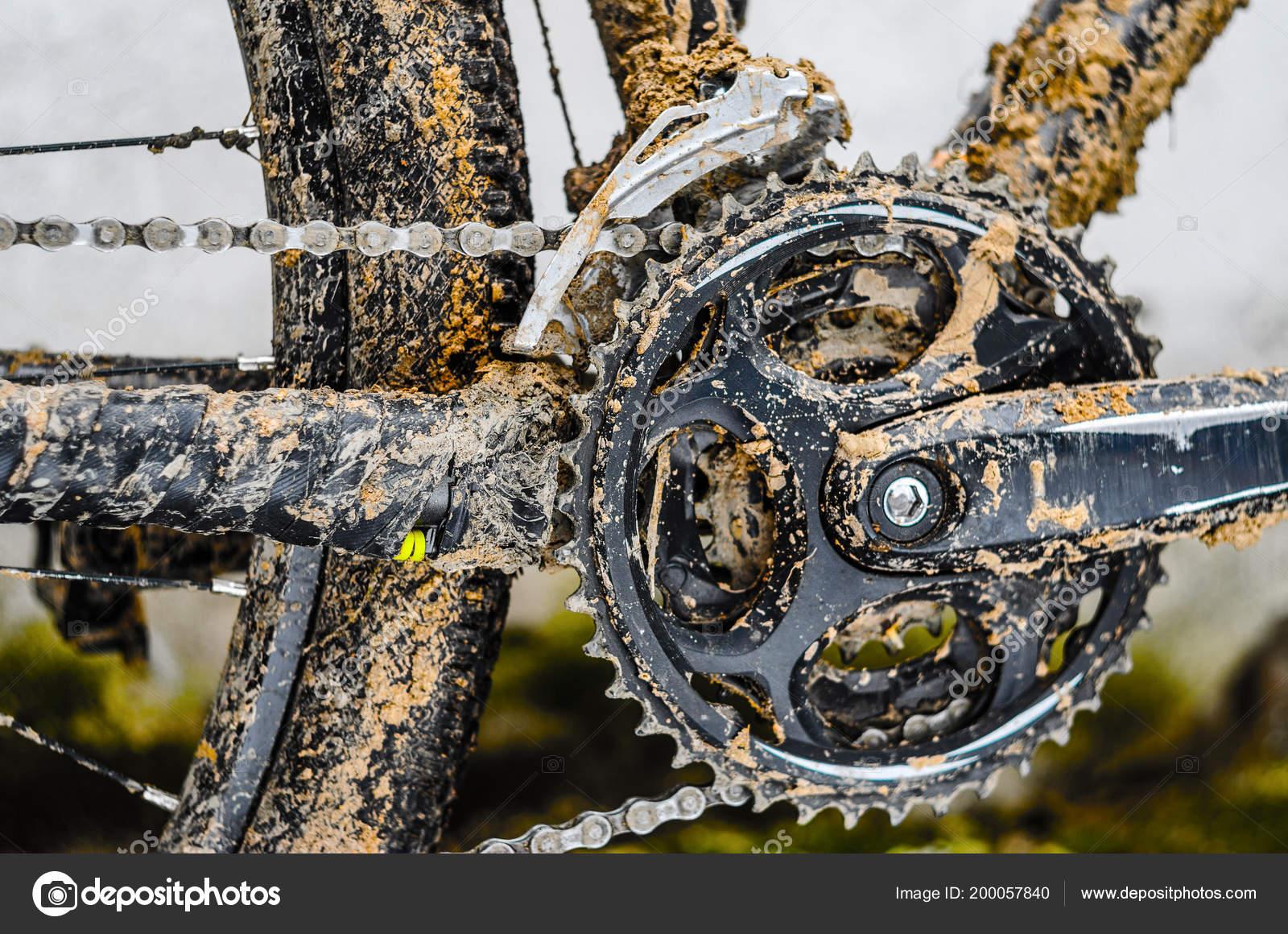 Mountain Bike Transmission Mud Dirty Chain Drive Mountain Bike Riding Stock Photo Image By C V Sot 200057840