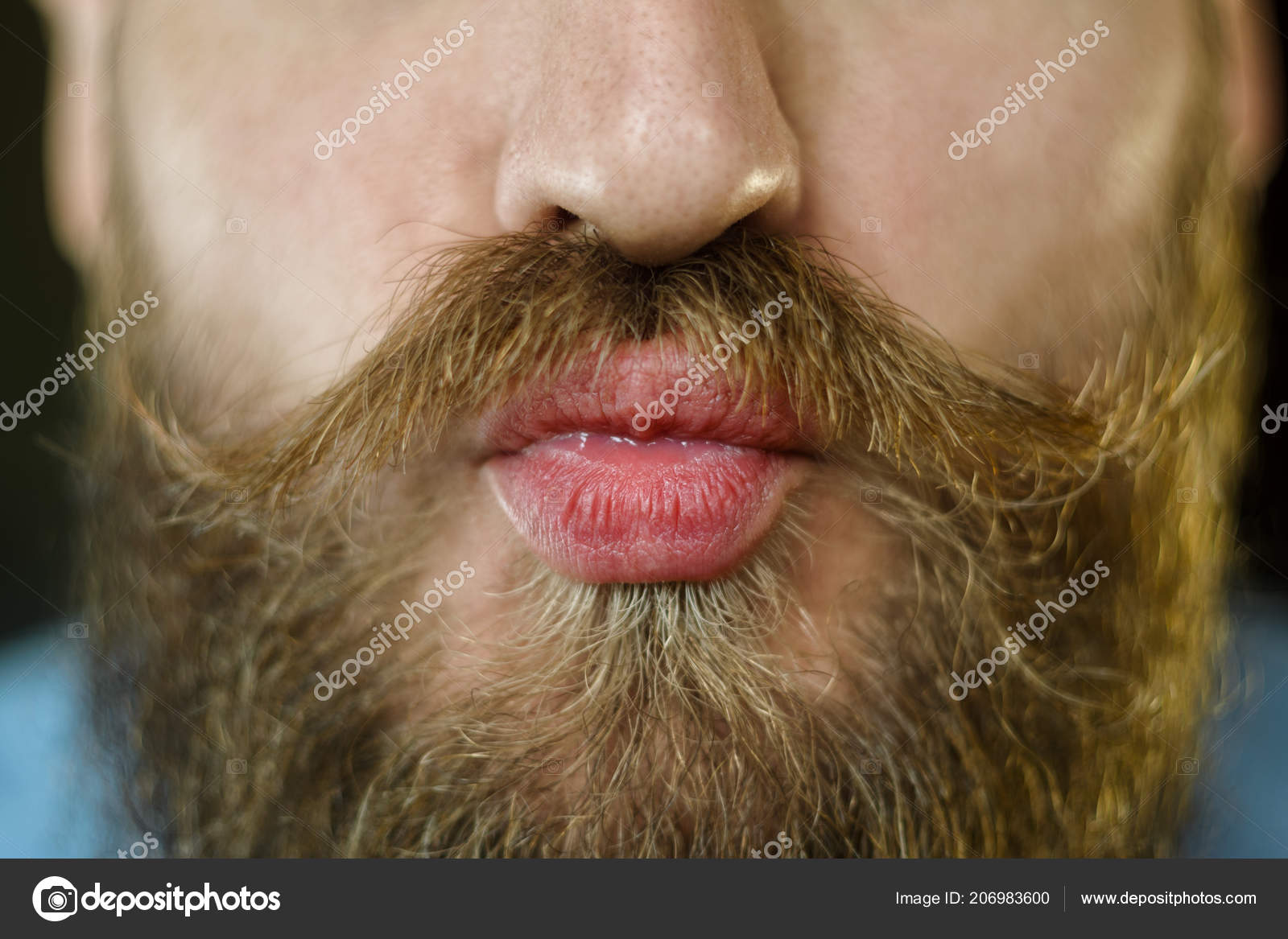 man lips kiss