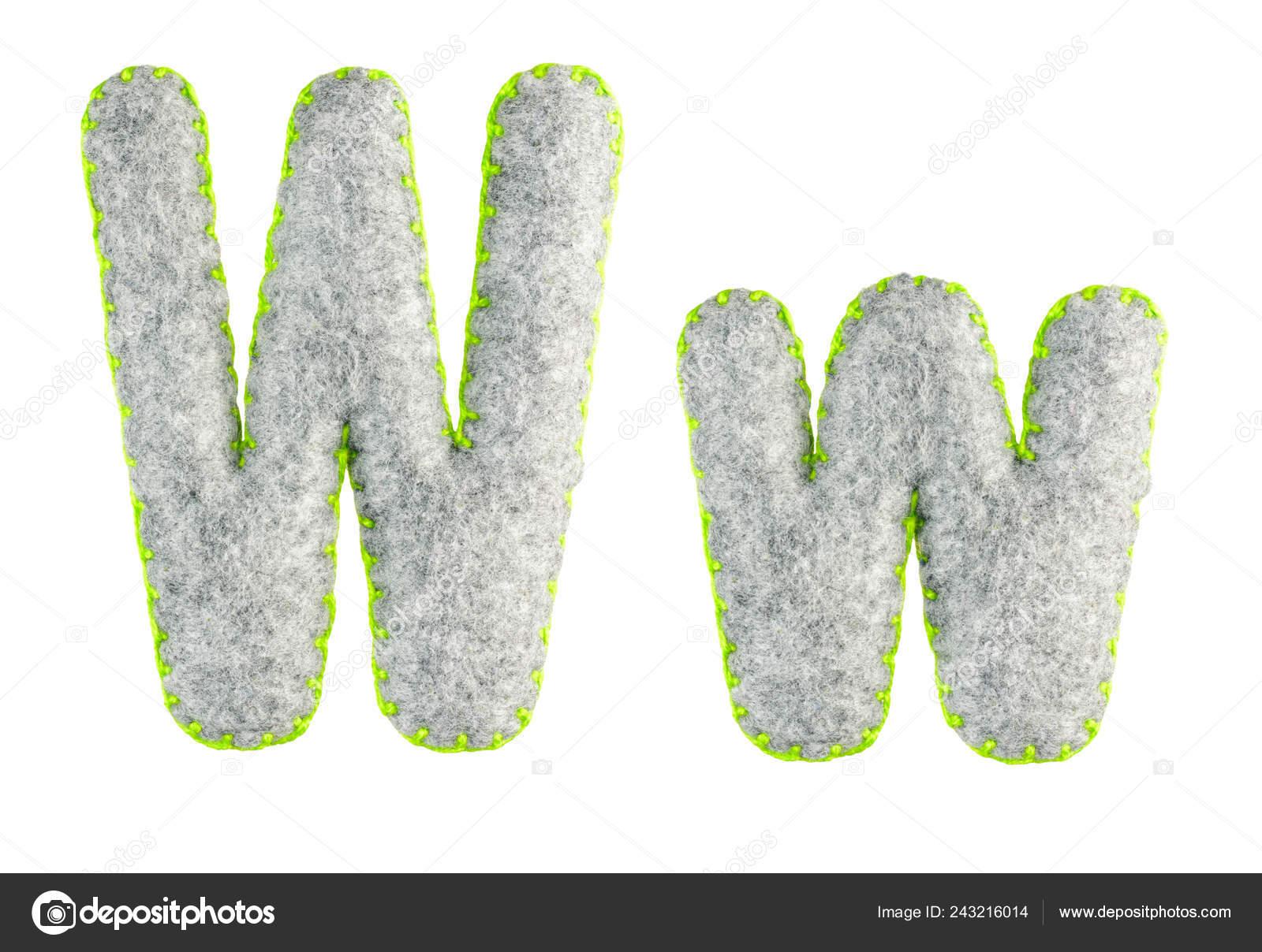 Letter Latin Alphabet Isolated White Background Main Upper