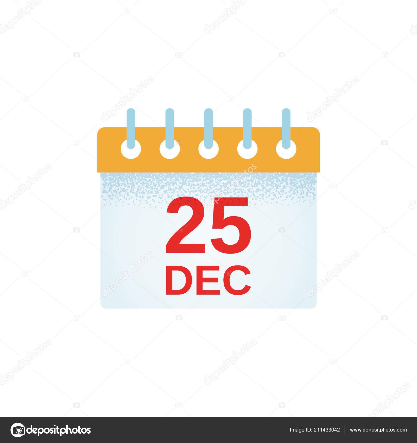 Weihnachten Datum.Weihnachts Kalender Icon Vektor Dezember Datum Flat Design