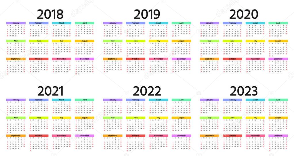 Yearly Calendar 2018 Template from st4.depositphotos.com