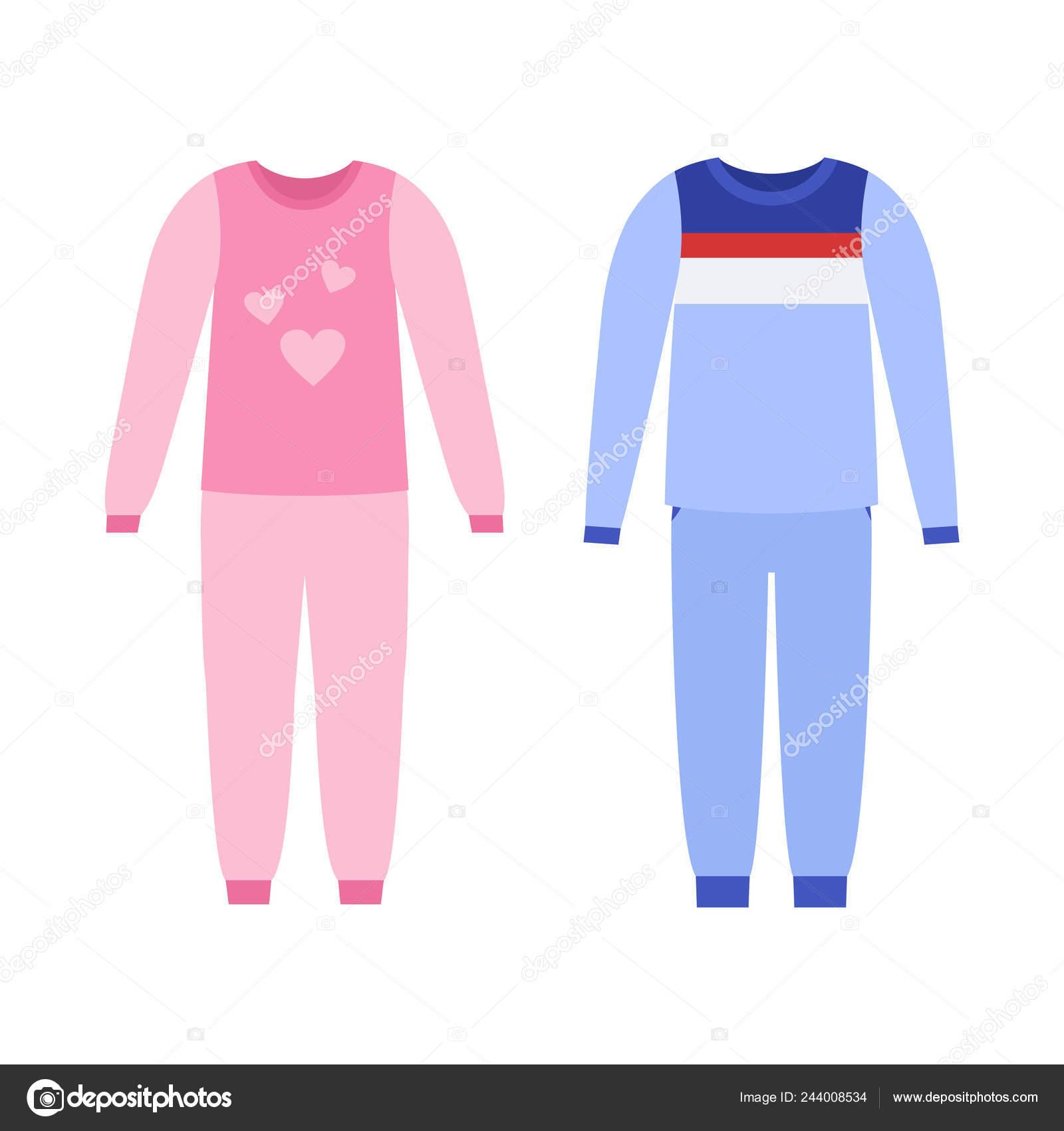 3fc0e84f209a Pijama para niña, niño. Vector. Camisa de dormir del bebé. Ropa de dormir  aislado en blanco en diseño plano. Iconos de ropa de noche.