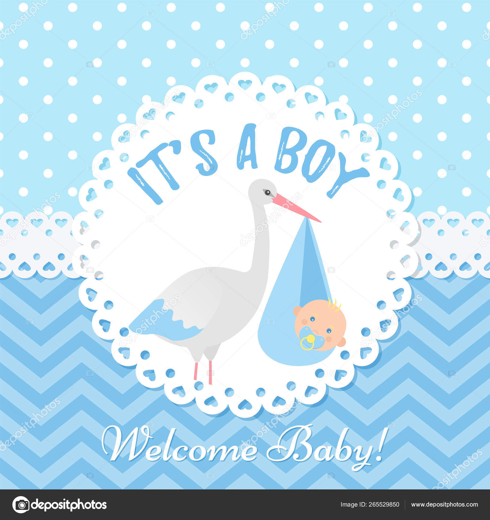 Baby Shower Card Design Vector Illustration Birthday Template Stock Vector C Maradaisy 265529850