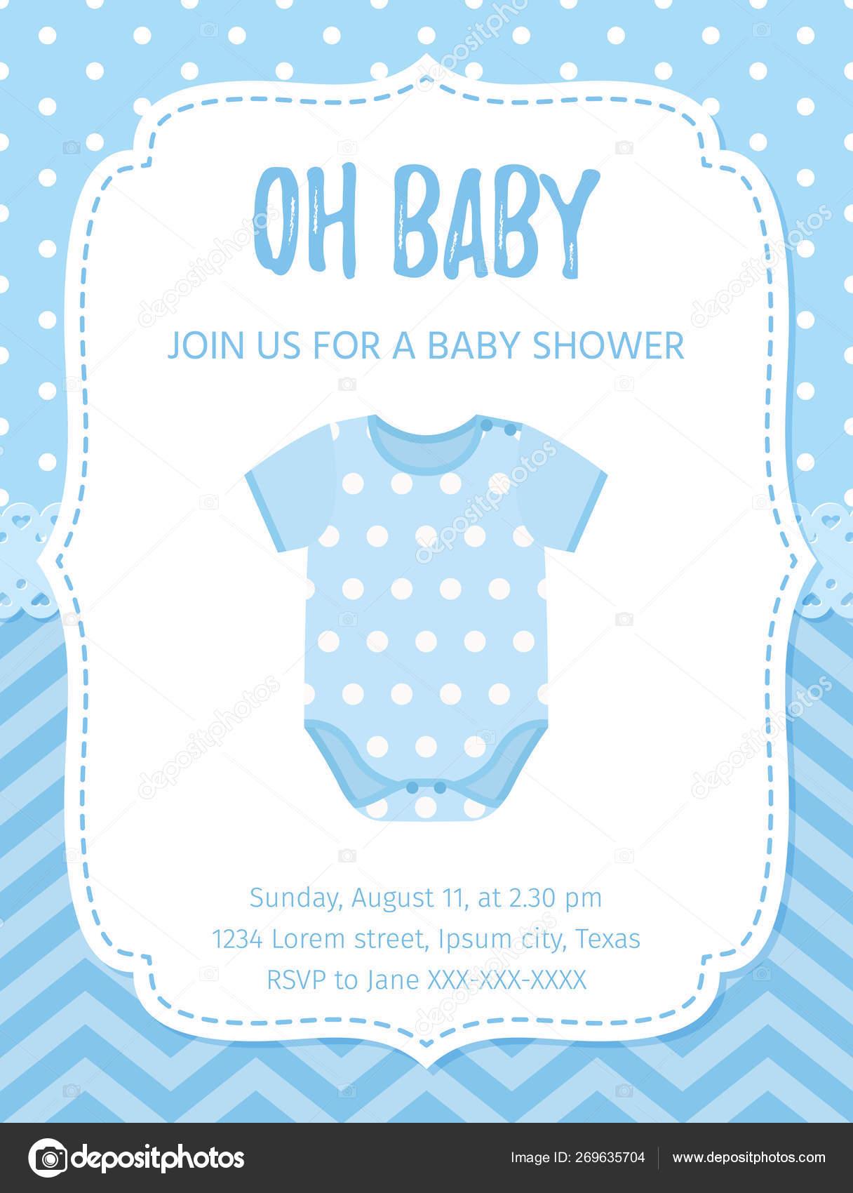 Baby Shower Card Design Vector Illustration Birthday