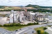 koblenz deutschland 21.07.2018 - quickmix beton dosieranlage und baustofffabrik luftbild