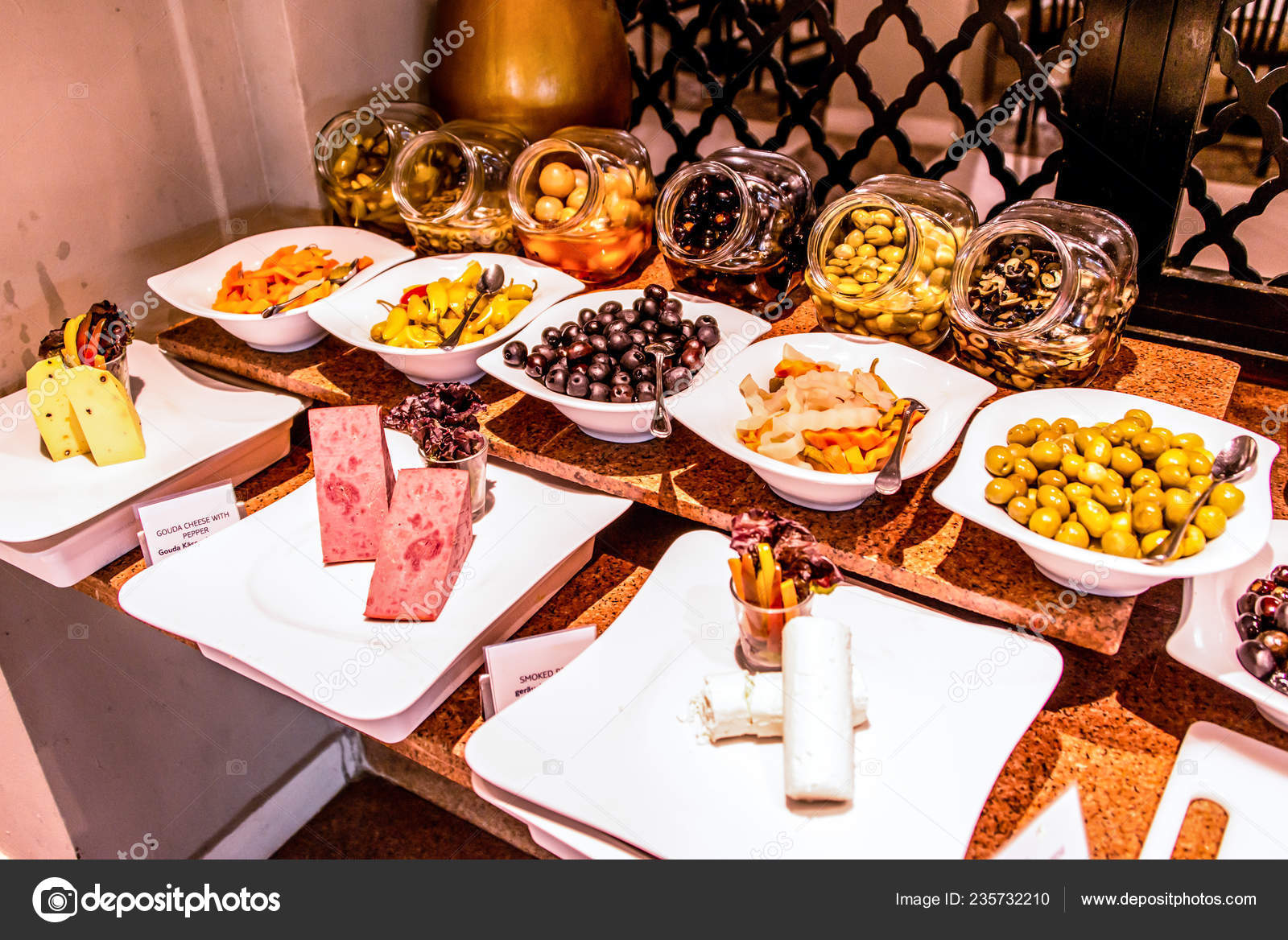 Variety Food Buffet Table Wine Snack Set Olives Cheese And Other Appetizer Italian Antipasti On Plate In Egypt Stock Photo Image By C Donogl 235732210