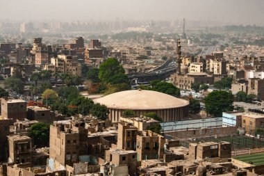 aerial view on the city of Cairo, Egypt, Africa. Cairo is the largest city on the African continent