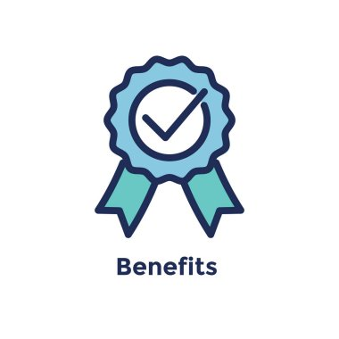 New Employee Hiring Process icon w benefits ribbon