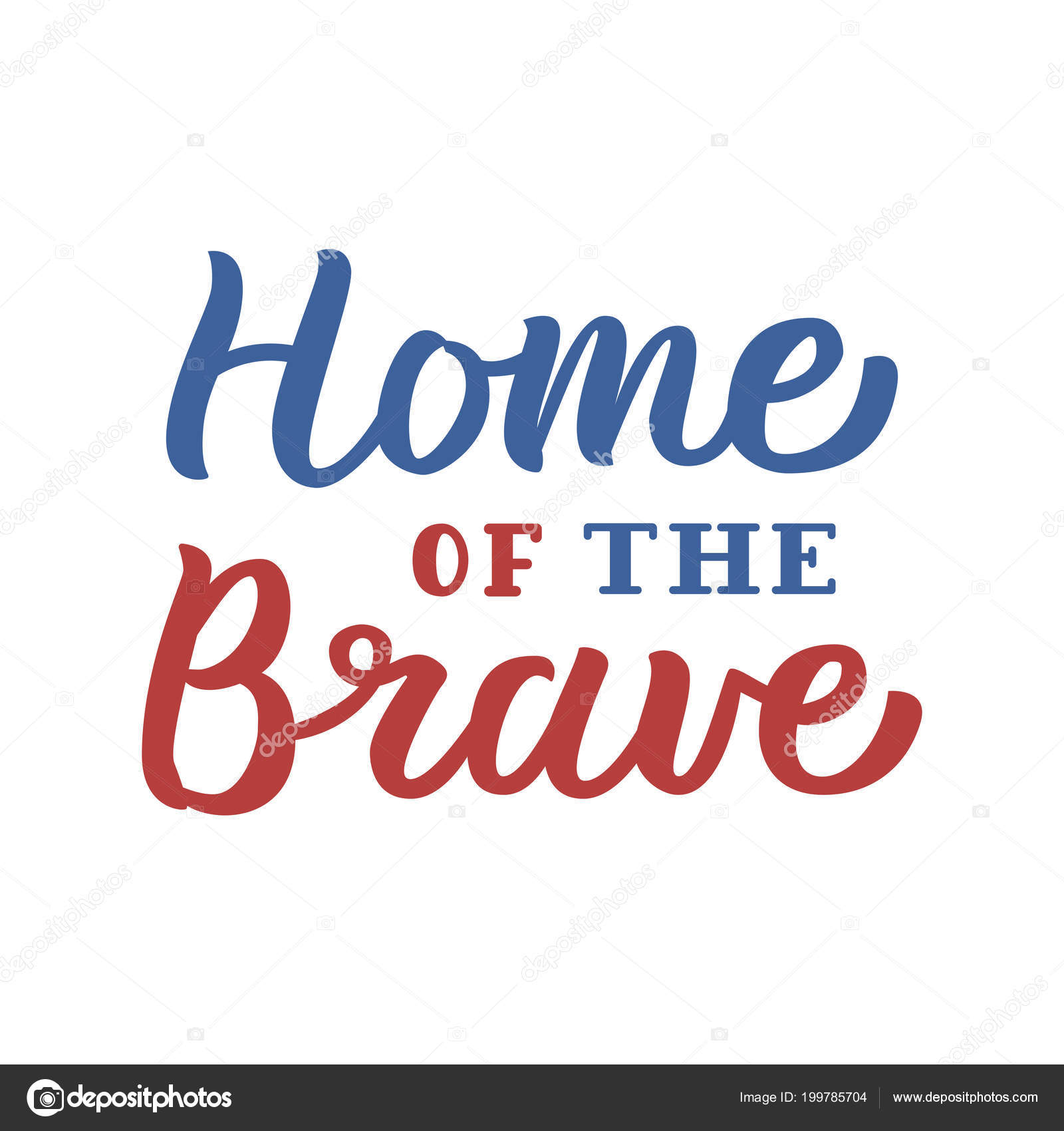 home of the brave lettering stock vector © katyflaty