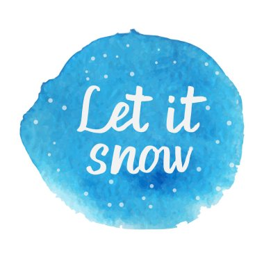 Let it snow. Hand drawn brush lettering