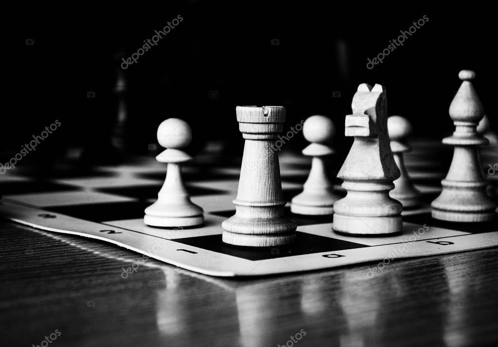 chess, game, tools, figures, black and white Chess game in Nizhny Novgorod