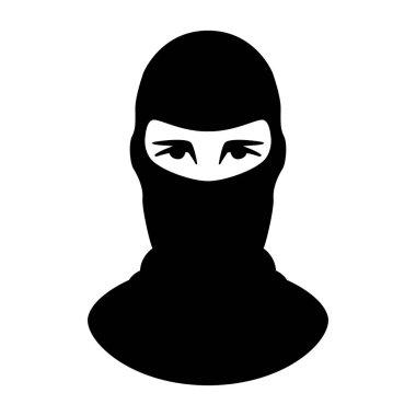 terrorist mask,vector illustration.flat style,front