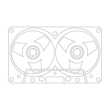 compact cassette, vector illustration