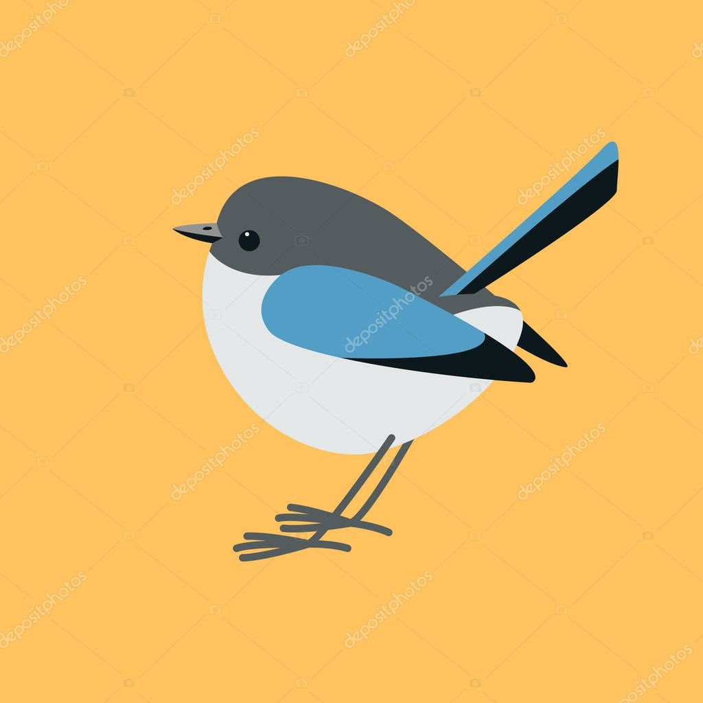 eastern bluebird  ,vector illustration ,flat style ,profile