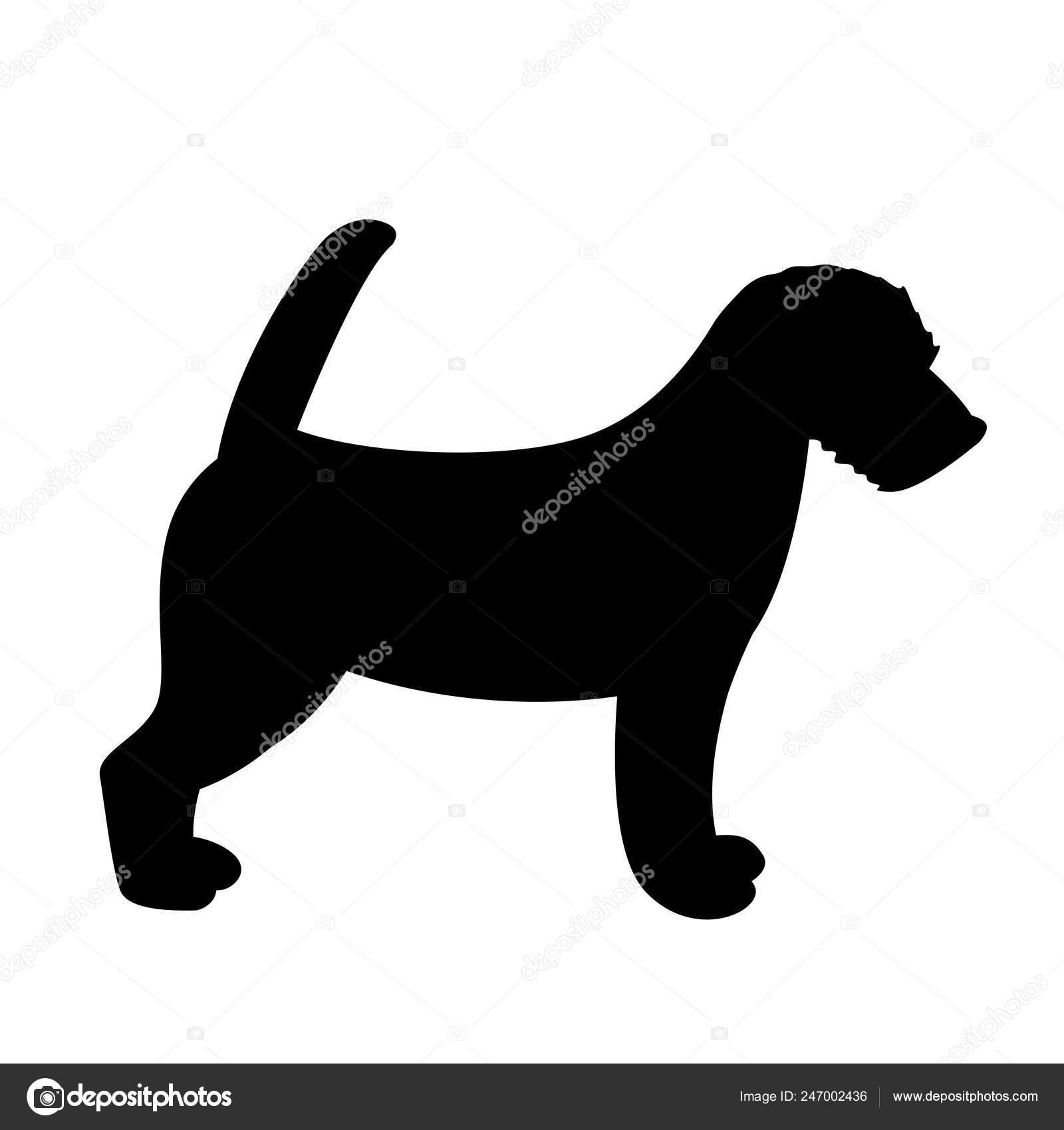 Terrier Jack Russell Puppy Vector Illustration Silhouette Stock Vector C Wectors 247002436