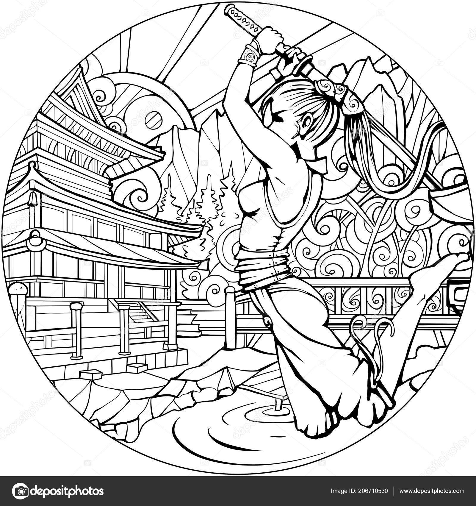 malvorlage samurai  coloring and malvorlagan