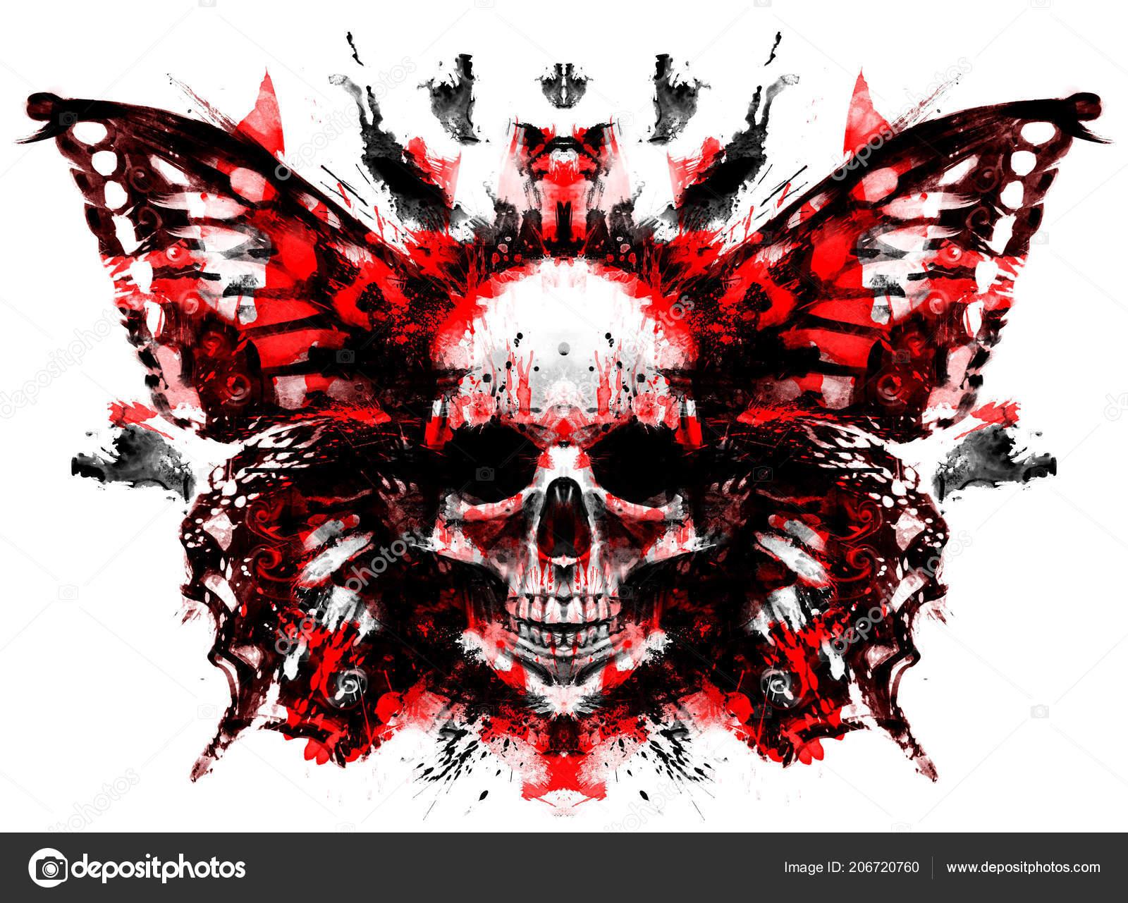 demon skull butterfly wings stock photo warmtail 206720760