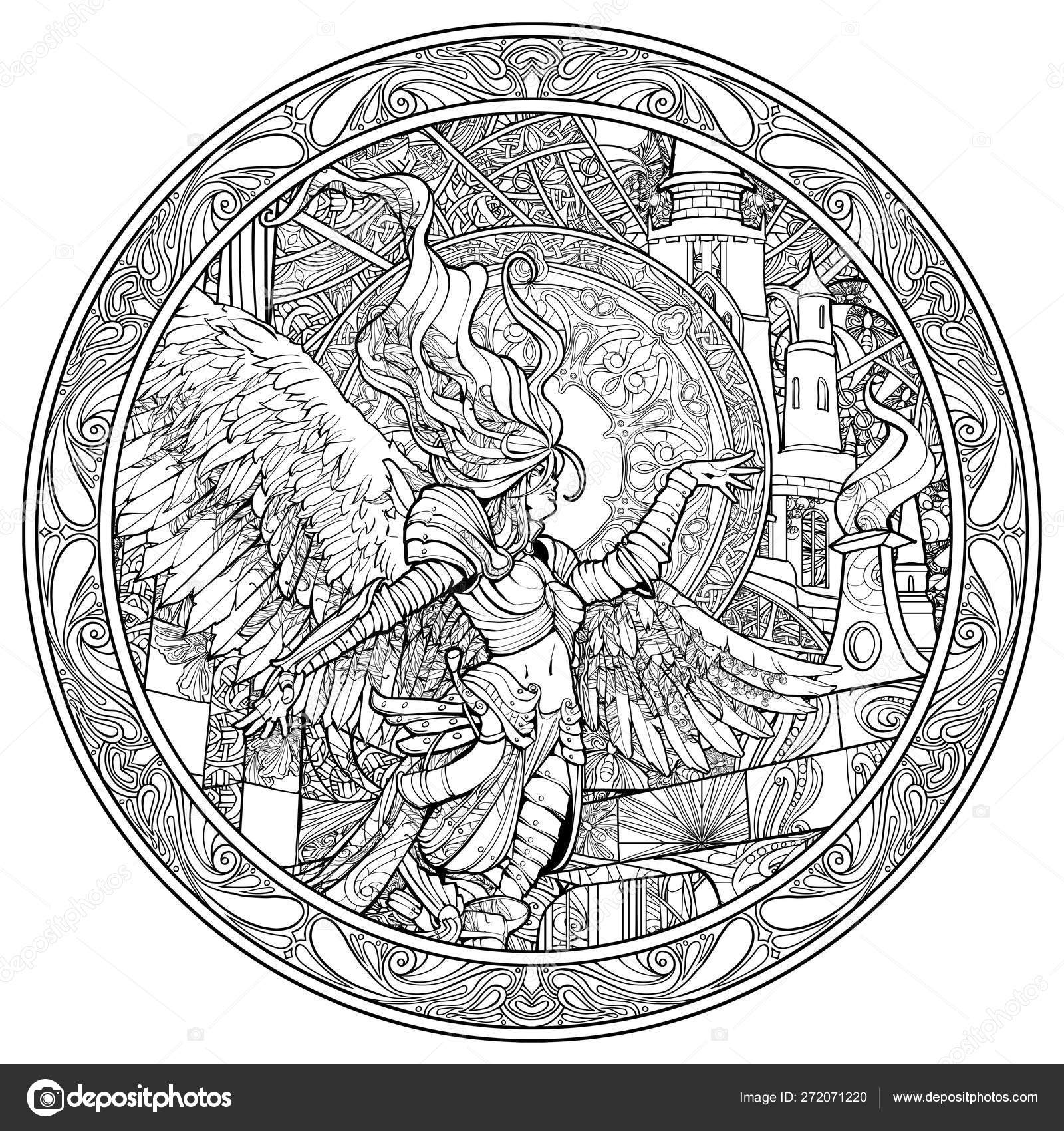 Gothic angel coloring pages | Coloring Pages Adults ...