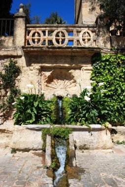 Water gardens within the Palace Fortress of the Christian Kings (Alcazar de los Reyes Cristianos), Cordoba, Cordoba Province, Andalucia, Spain, Europe.