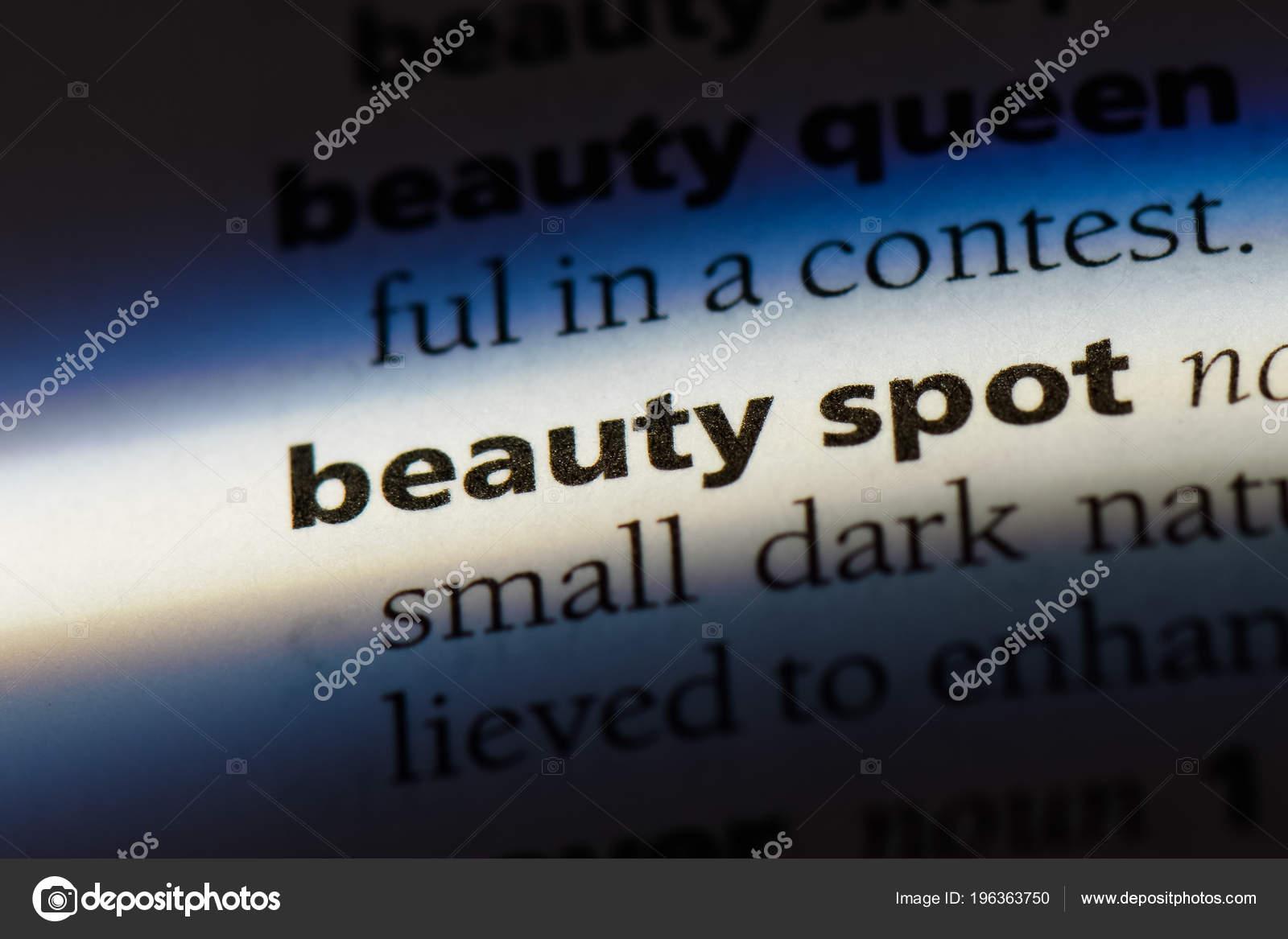 Beauty Spot Word Dictionary Beauty Spot Concept — Stock Photo