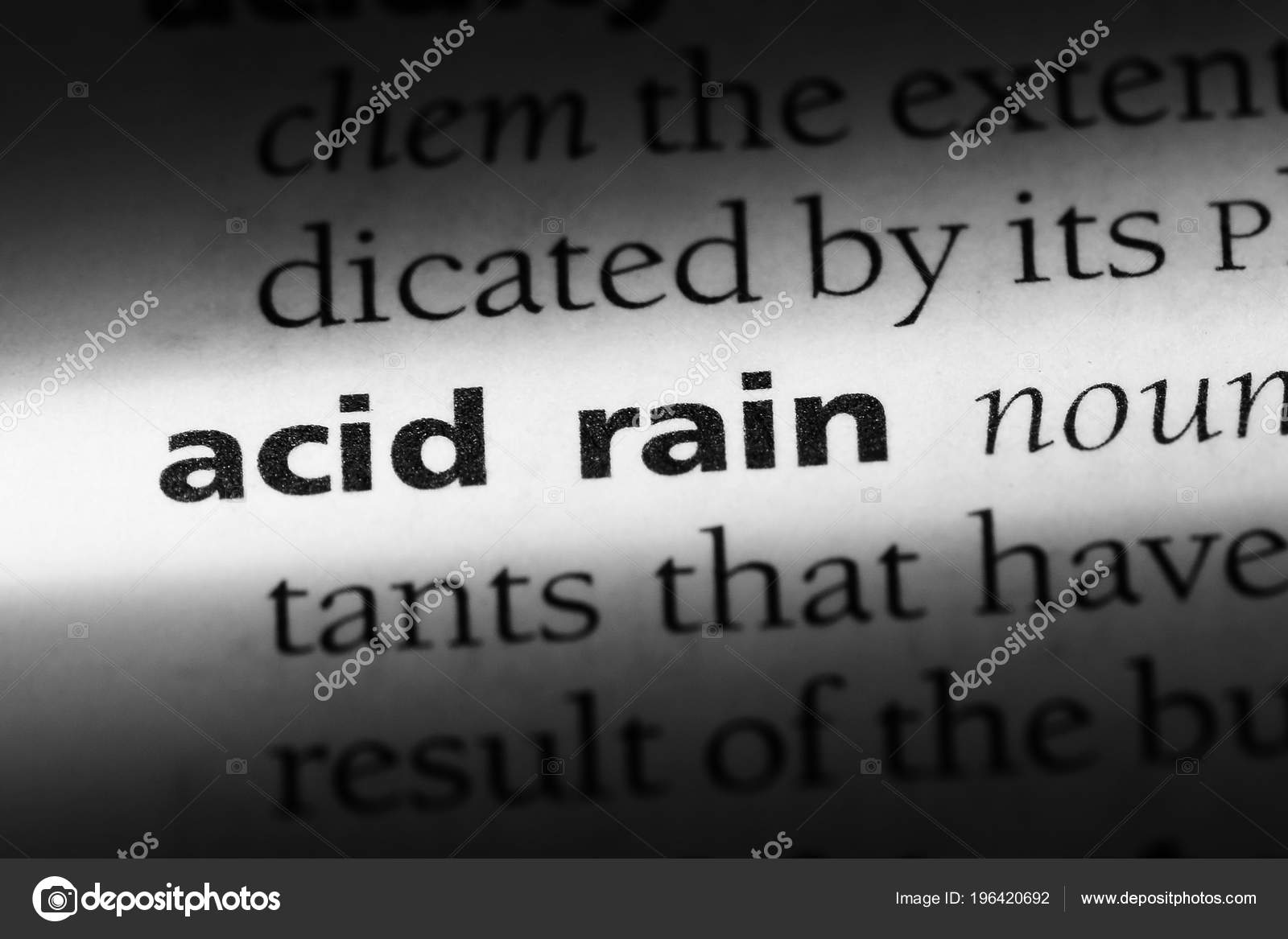 acid rain word dictionary acid rain concept — stock photo