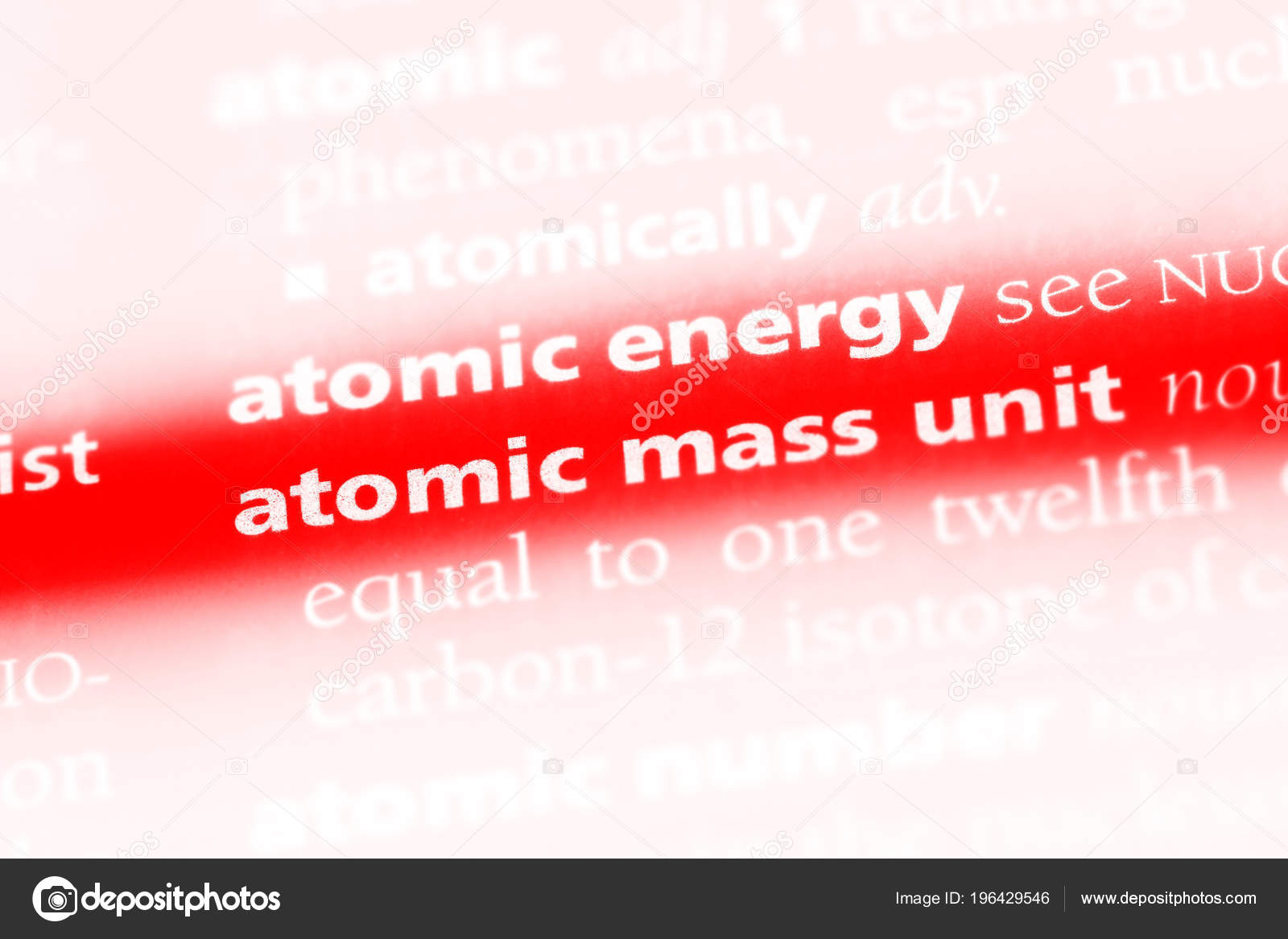 Atomic Mass Unit Word Dictionary Atomic Mass Unit Concept