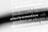Fotografie Elektromotorische Wort in einem Wörterbuch. Elektromotorische Konzept