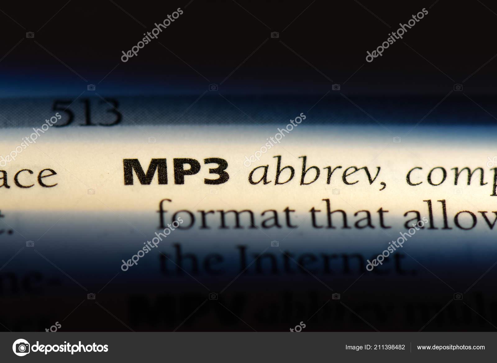 Mp3 Word Dictionary Mp3 Concept — Stock Photo © Casimiro_PT #211398482
