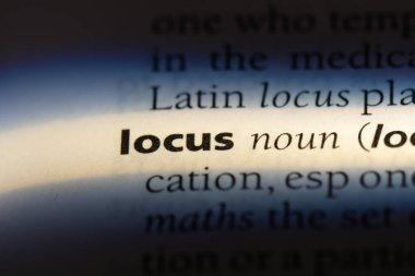 locus word in a dictionary. locus concept.