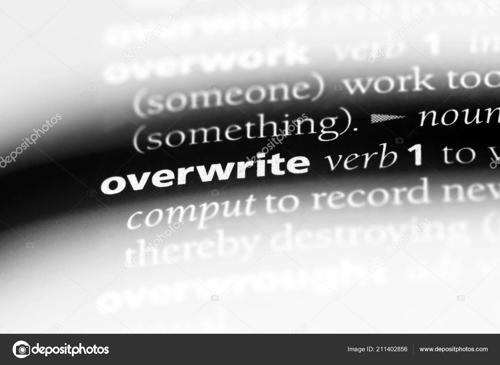 overwrite text in word