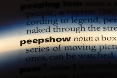 peepshow word in a dictionary. peepshow concept.