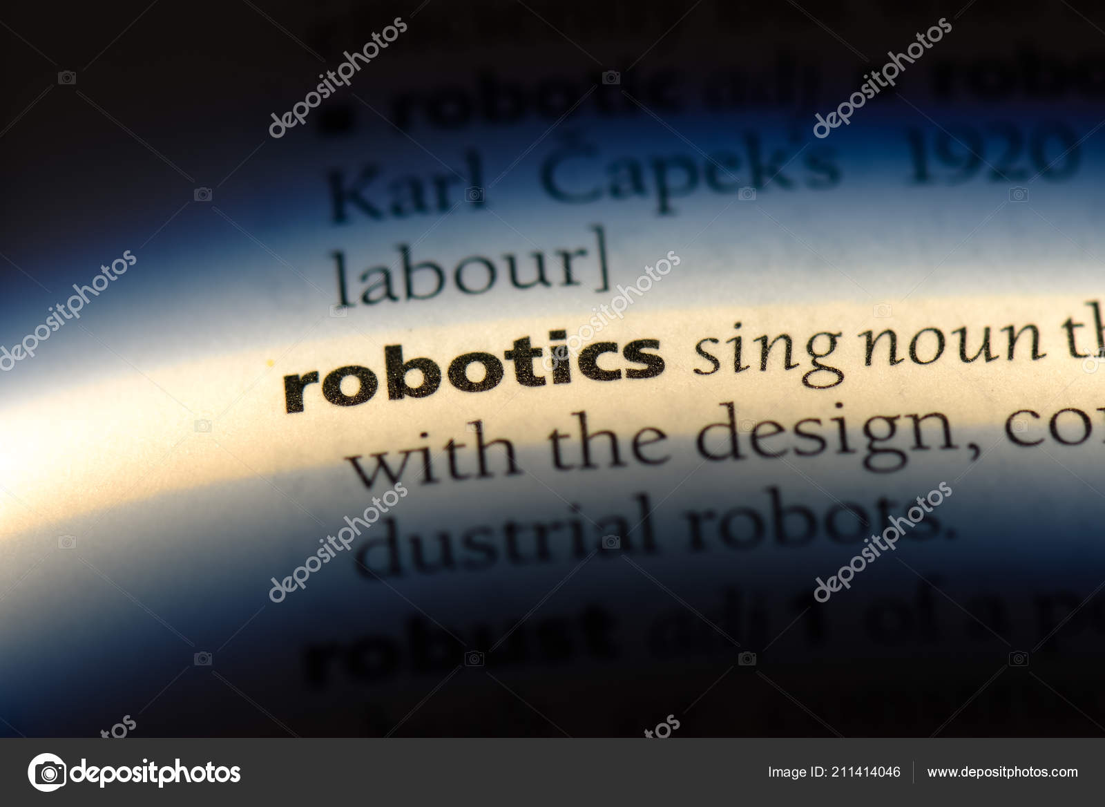 Robotics Word Dictionary Robotics Concept Stock Photo