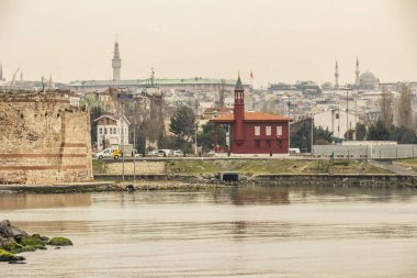 kocamustafapasa,istanbul,turkey-marrch 23,2019. cityscape and view from kocamustafapasa in istanbul with old town and buildings.