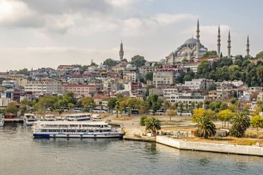 halic,istanbul,turkey-august 14,2019.The Golden Horn also known by its modern Turkish name, Hali is a major urban waterway.