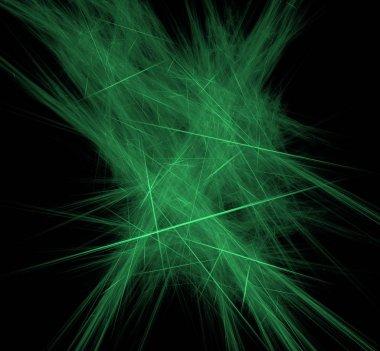 Ufo green lines fractal background. Fantasy fractal texture. Digital art. 3D rendering. Computer generated image