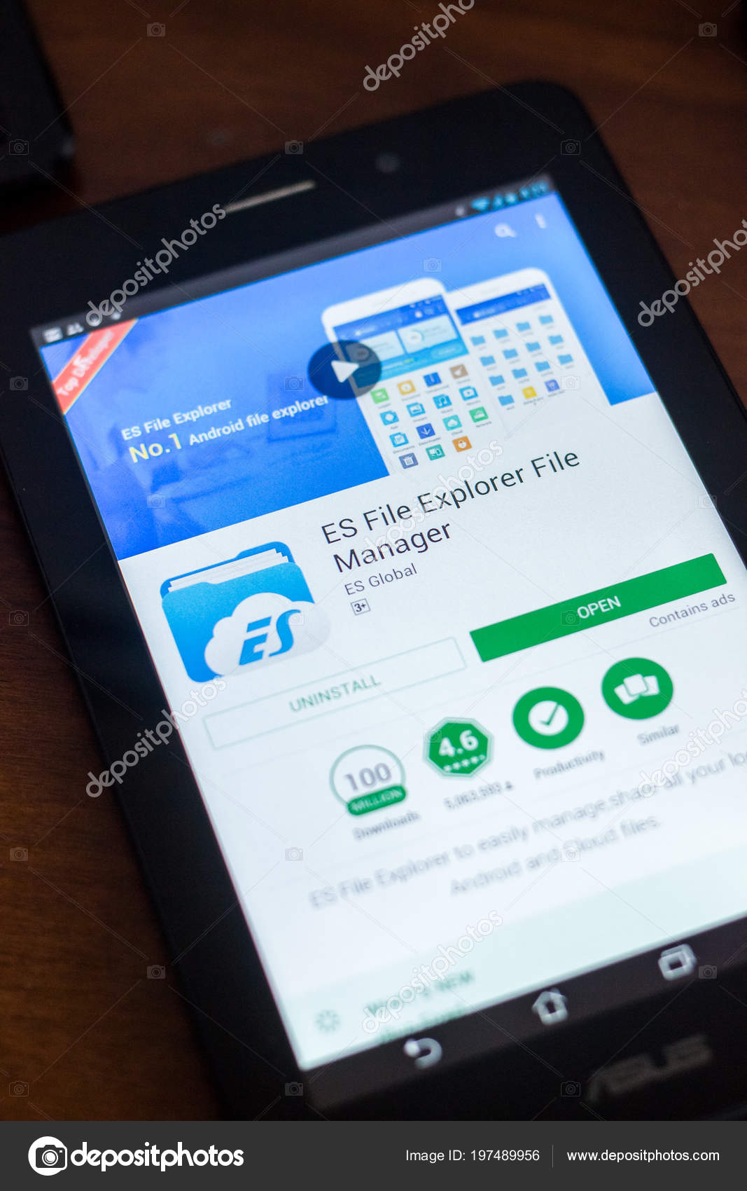 Ryazan Russia March 2018 Explorer File Manager Mobile App